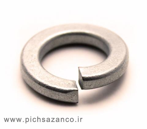 واشر فنری استیل A2 استاندارد DIN 127