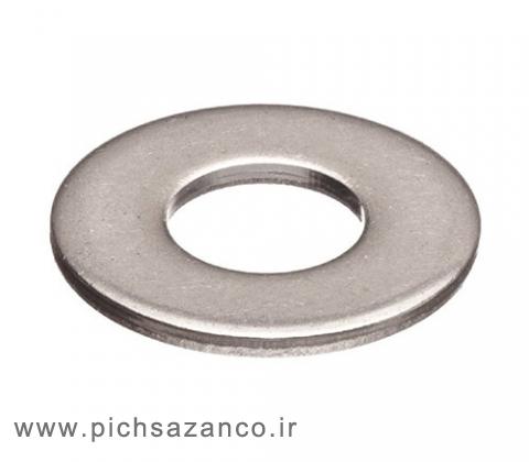واشر تخت استاندارد DIN 125 آهنی